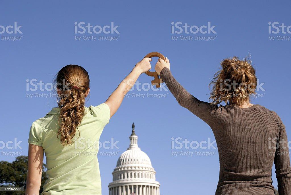 Women's Vote royalty-free stock photo