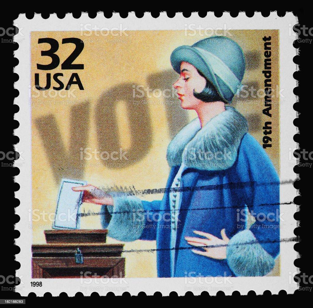 Women's Voting Stamp stock photo