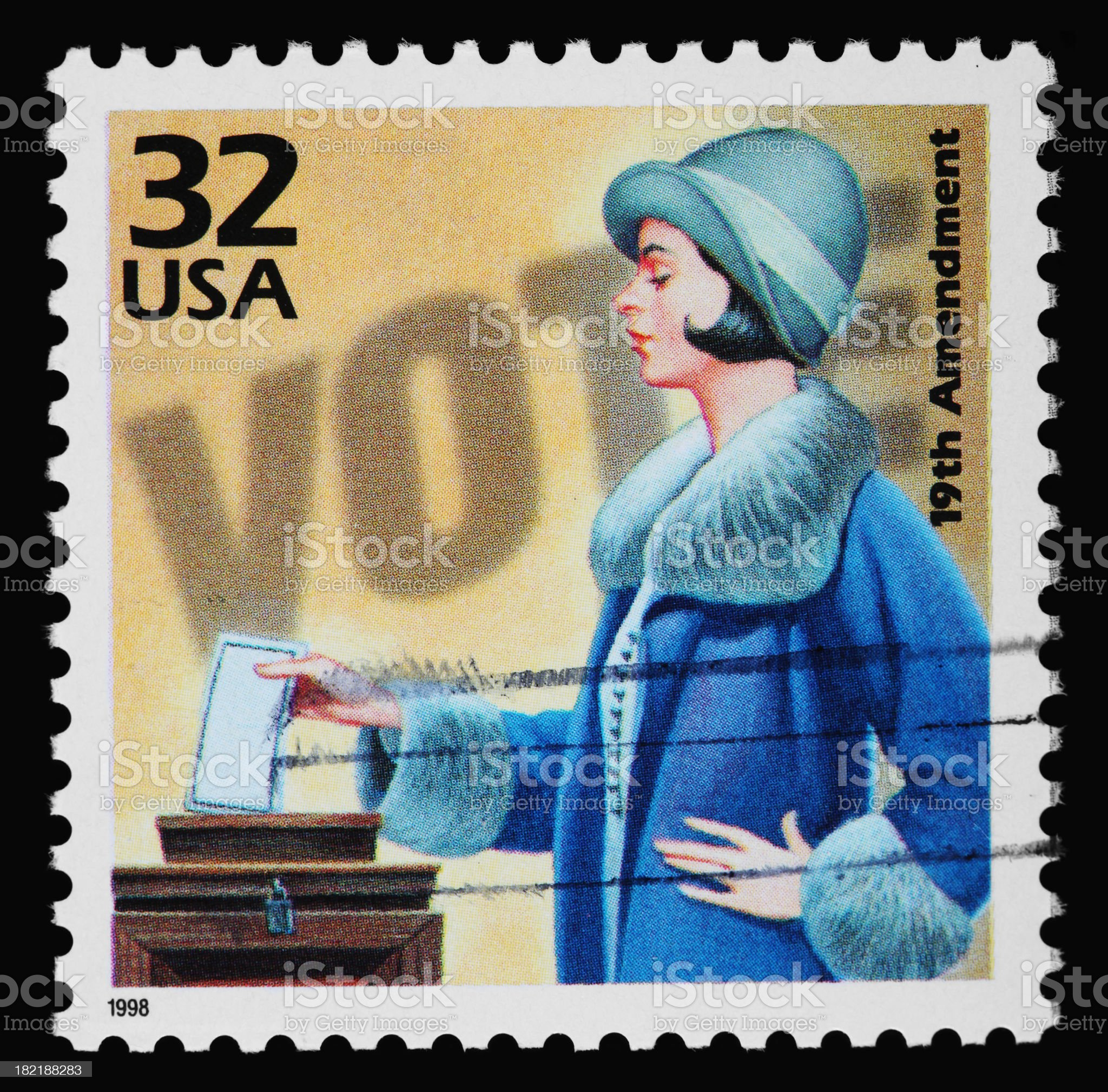 Women's Voting Stamp royalty-free stock photo