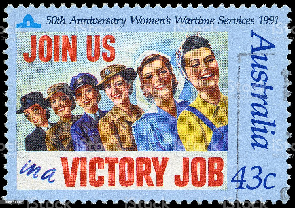 Women's Wartime Services royalty-free stock photo