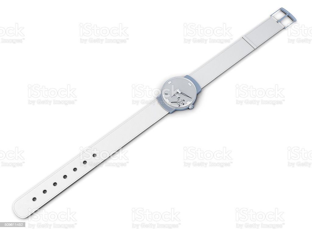 Women's wrist watch isolated on a white background. 3d rendering stock photo