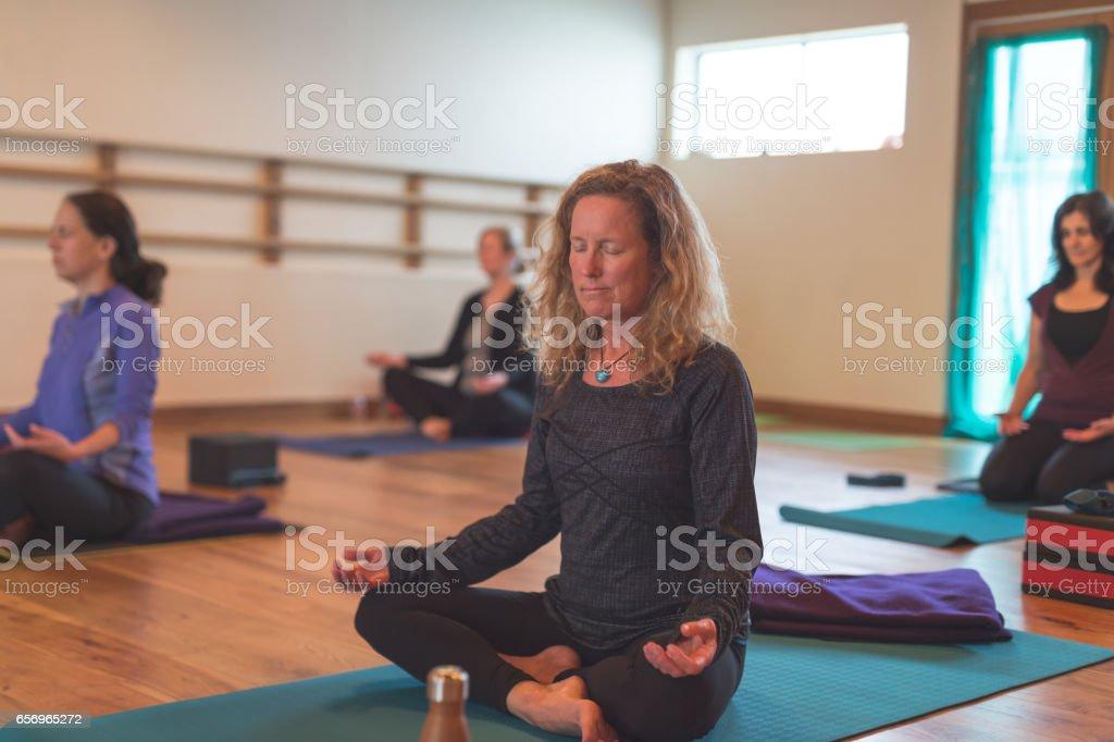 Women's Yoga Studio stock photo