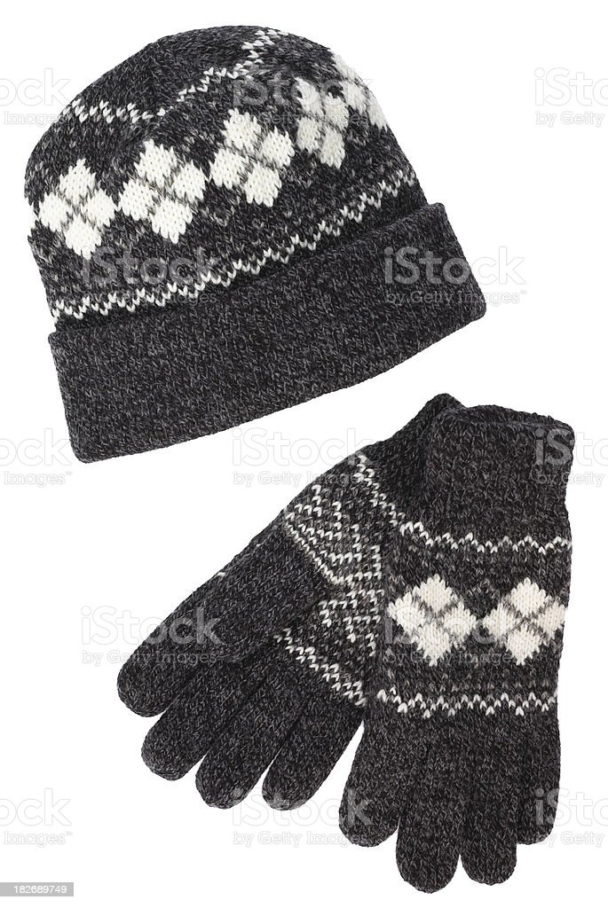 Womens-Hat and Gloves royalty-free stock photo