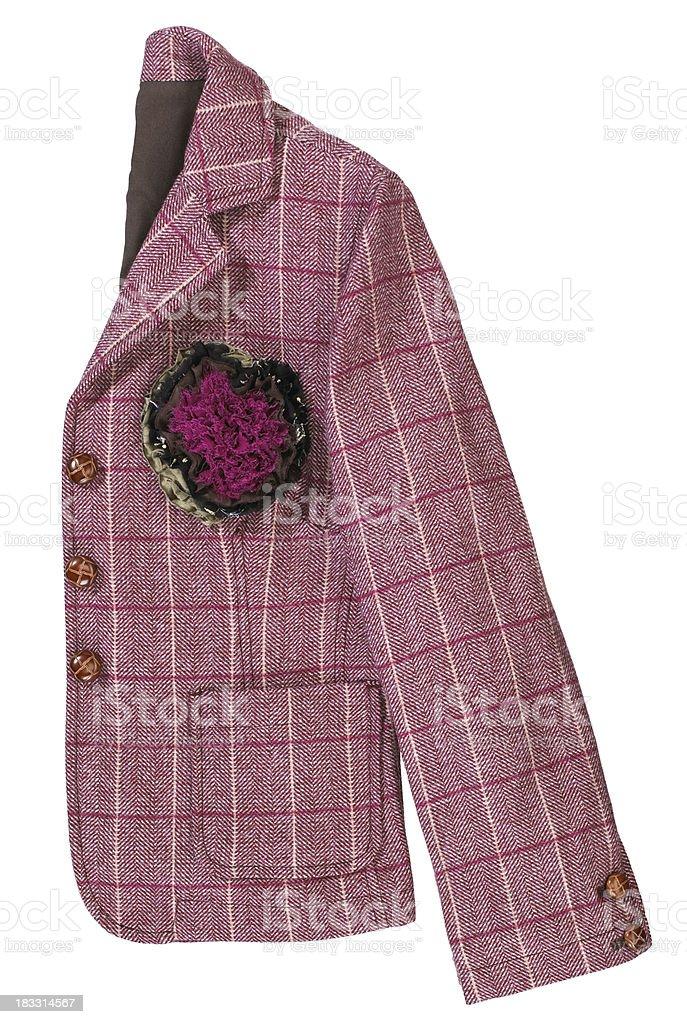 Womens-Pink Jacket royalty-free stock photo