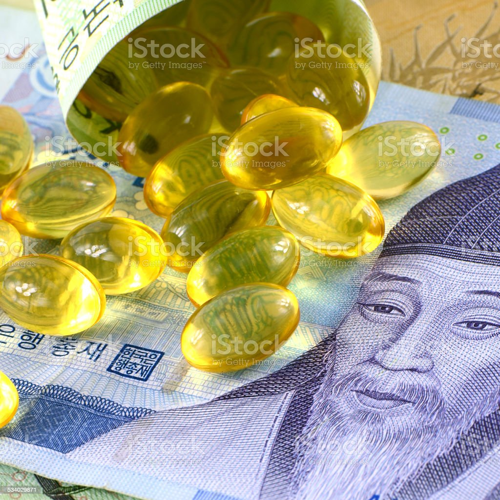 Current Use of South Korean Won Currency and Medicine in Korean...