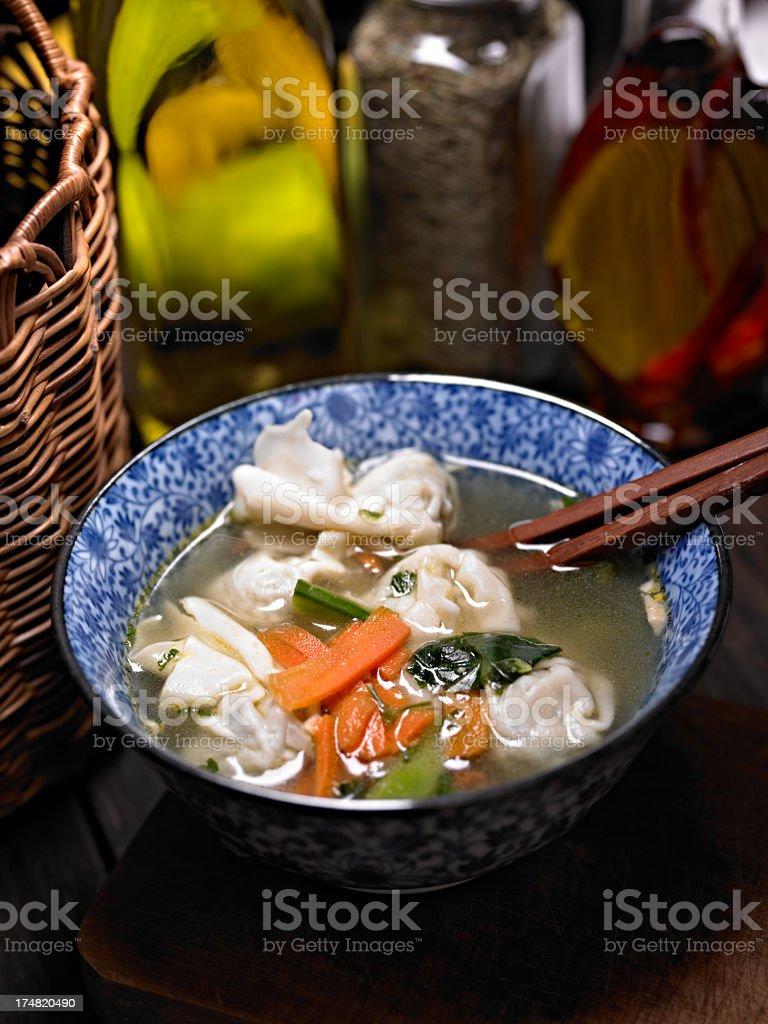 Won Ton Soup royalty-free stock photo