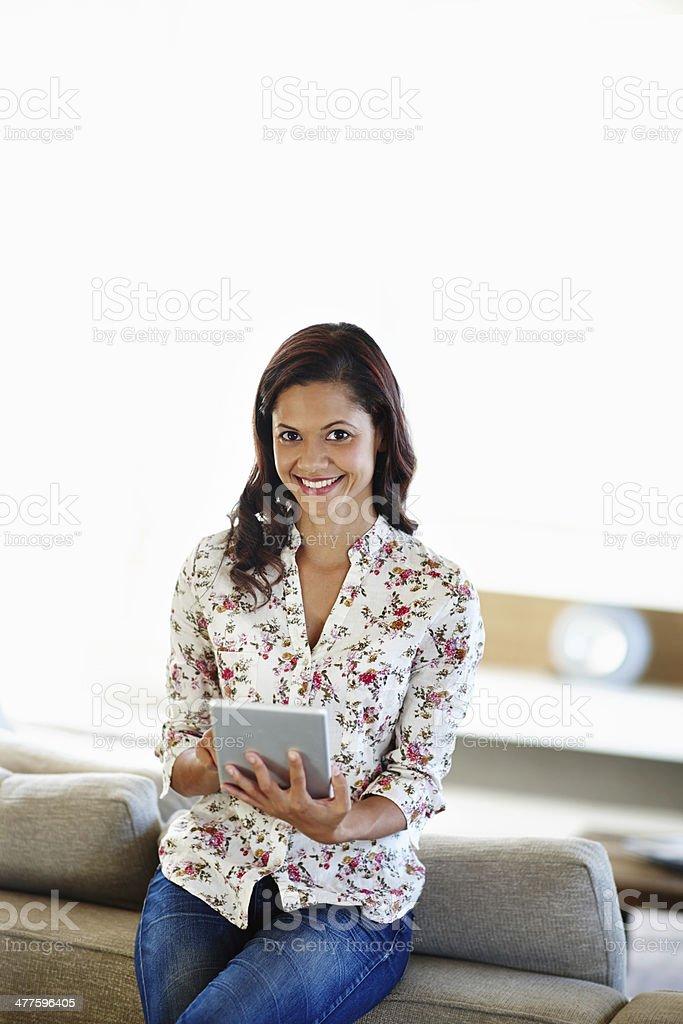 I wonder what's happening online royalty-free stock photo