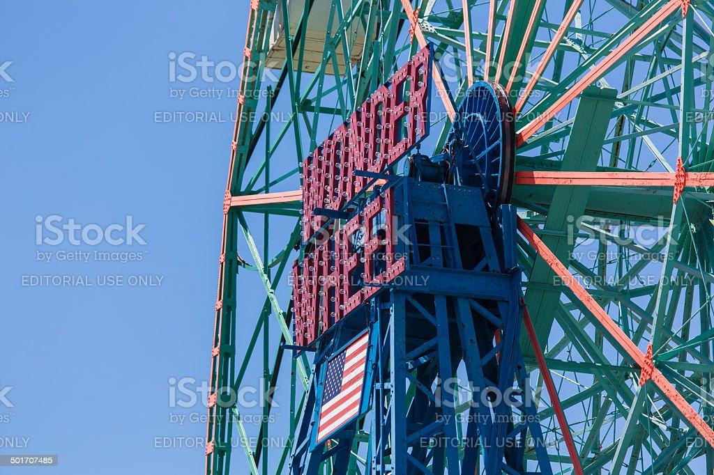 Wonder Wheel in Coney Island, NY stock photo