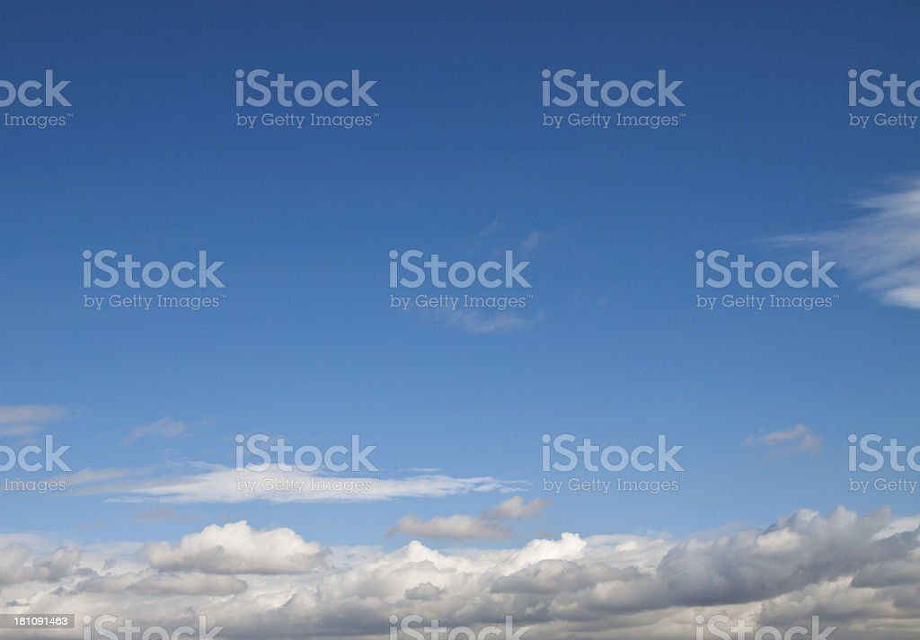 Wonderful blue sky royalty-free stock photo