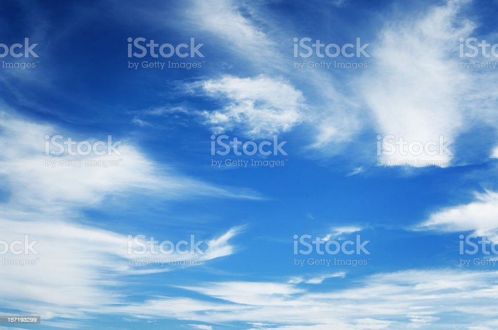 Wonderful blue sky, with some white clouds royalty-free stock photo