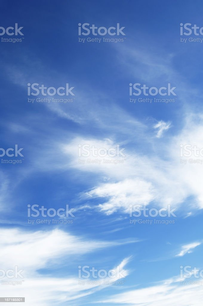 Wonderful blue sky, with some white clouds. royalty-free stock photo