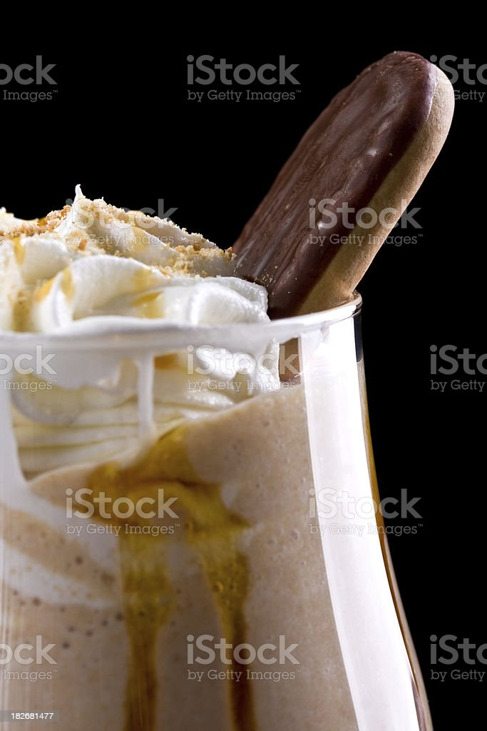 Wonderful cappuccino with biscuit royalty-free stock photo