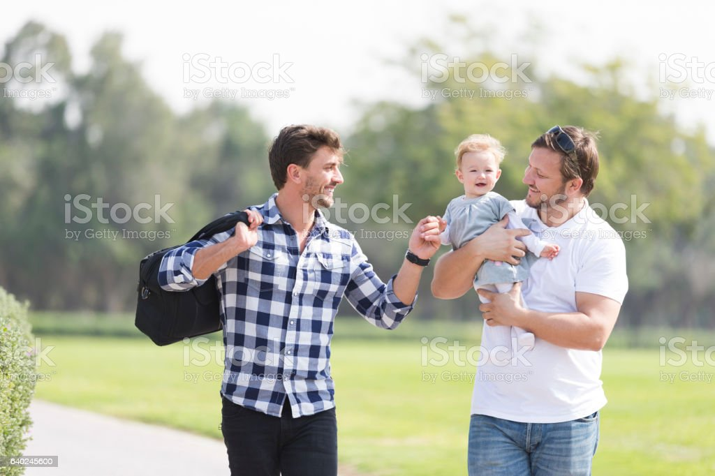 Wonderful day for our girl to enjoy her first summers stock photo
