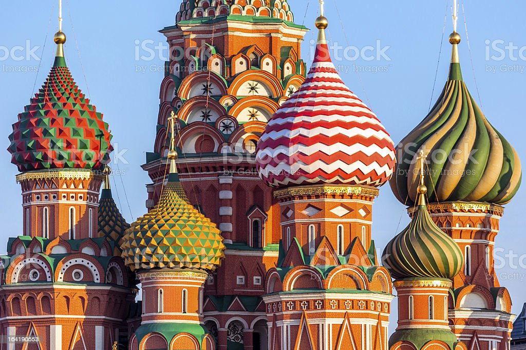 Wonderful domes of Saint Basil's Cathedral, Moscow royalty-free stock photo