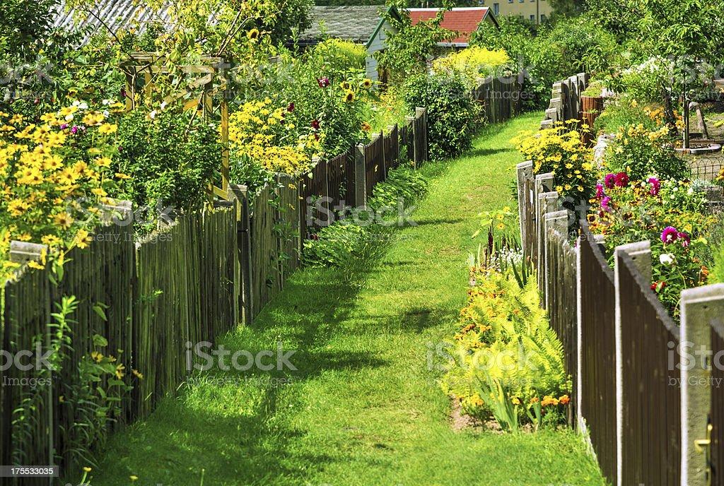 Wonderful gardens with flowers stock photo