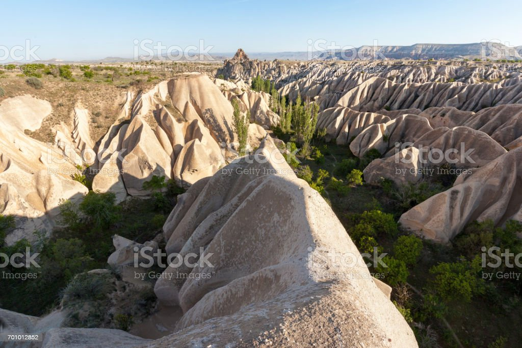 Wonderful landscape of Cappadocia in Turkey near Gereme stock photo