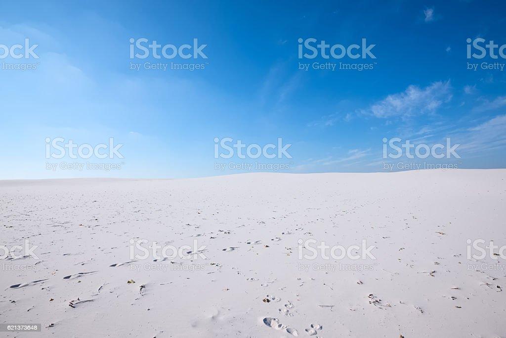 Wonderful landscape - white sand dunes of the desert stock photo