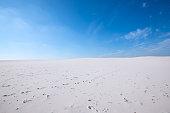 Wonderful landscape - white sand dunes of the desert