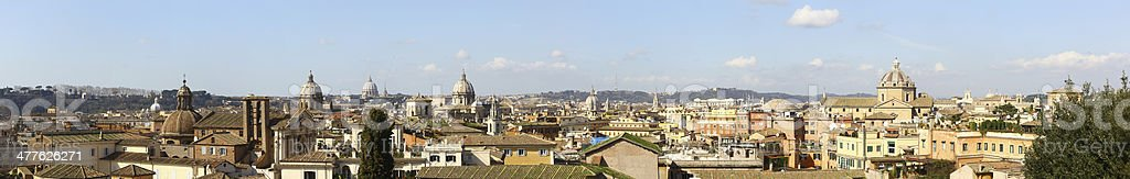 Wonderful large skyline of Rome, big size royalty-free stock photo