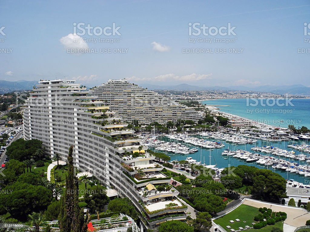 Wonderful Marina Baie des Anges in France. stock photo