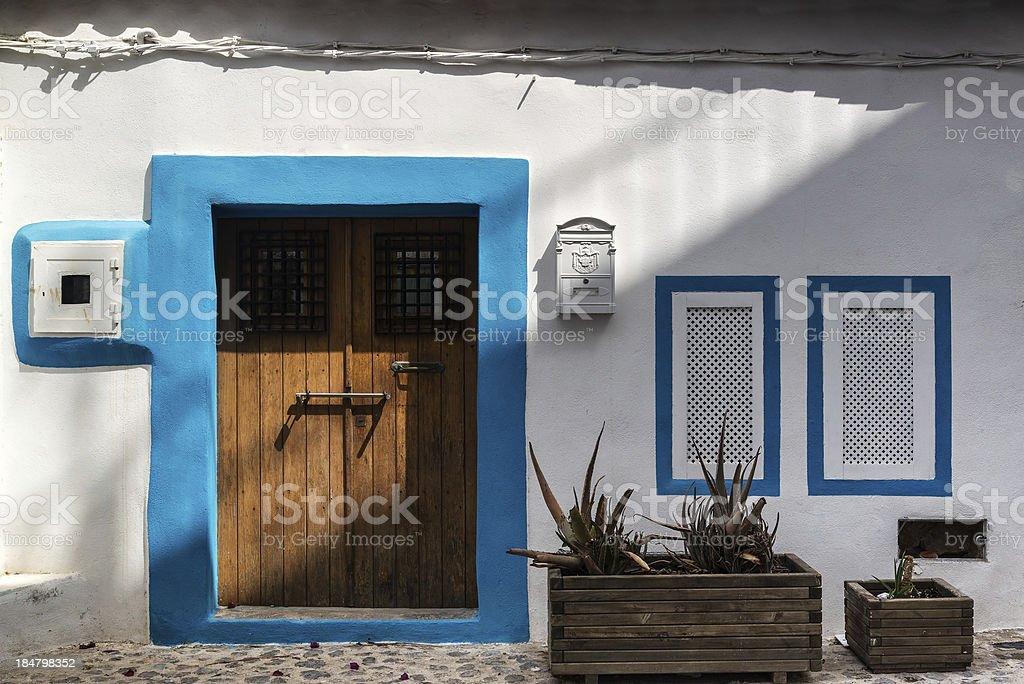 Wonderful Mediterranean style housing full of character royalty-free stock photo