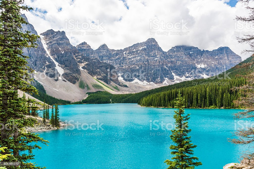 Wonderful Moraine Lake stock photo