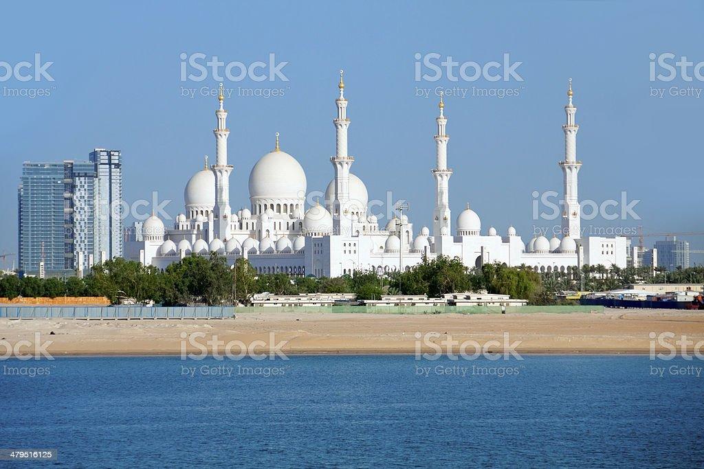 Wonderful mosque in Abu Dhabi stock photo