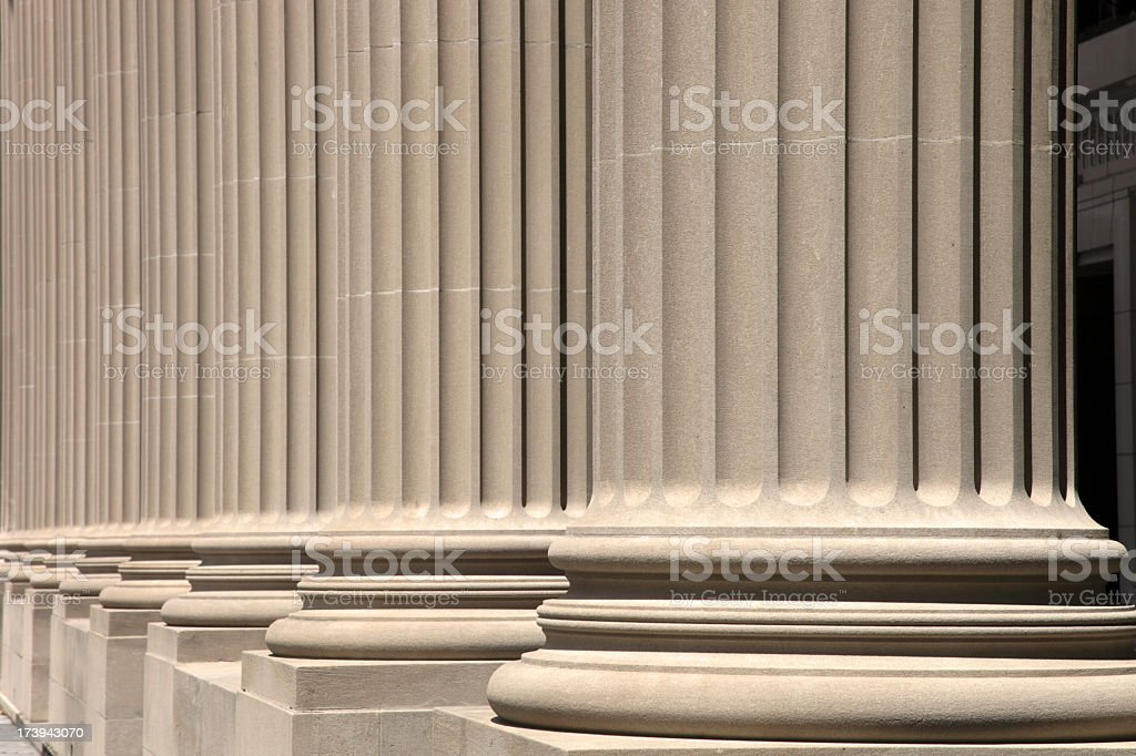 wonderful neoclassical columns royalty-free stock photo