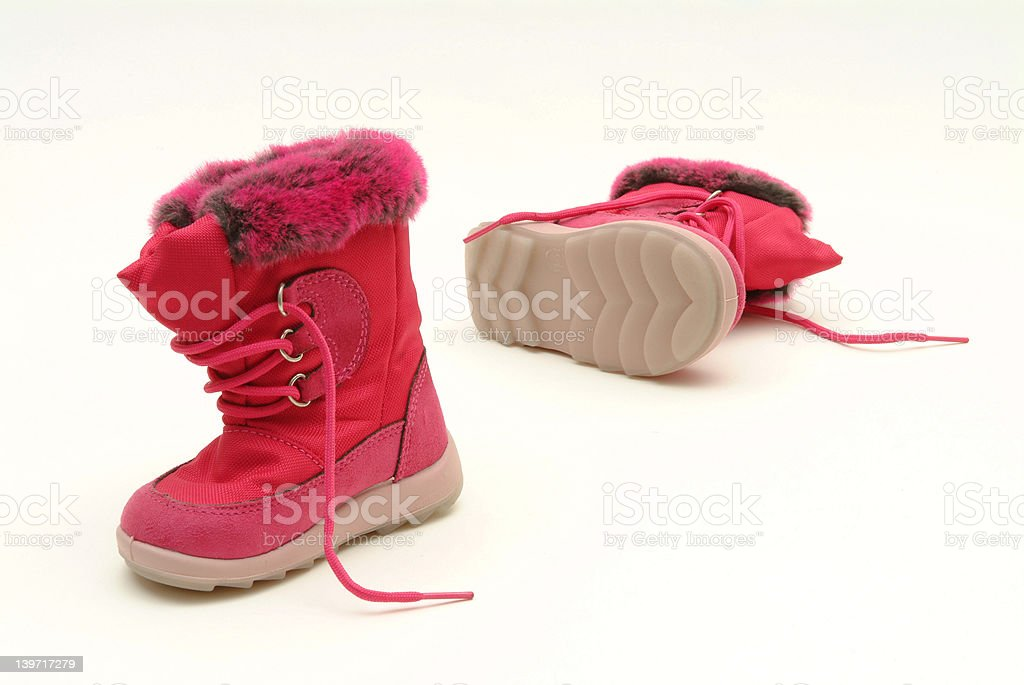 Wonderful pink fashion boots for toddlers royalty-free stock photo