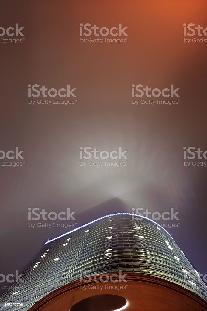 wonderful rays over a modern building stock photo