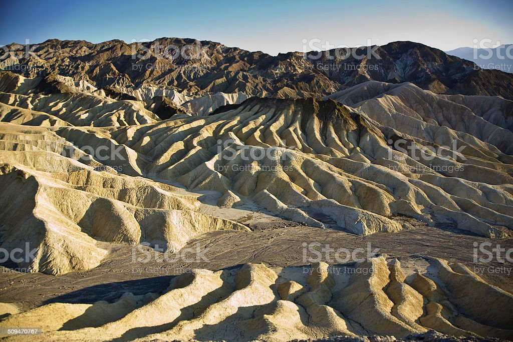 wonderful scenic point Dantes view in the Death valley stock photo
