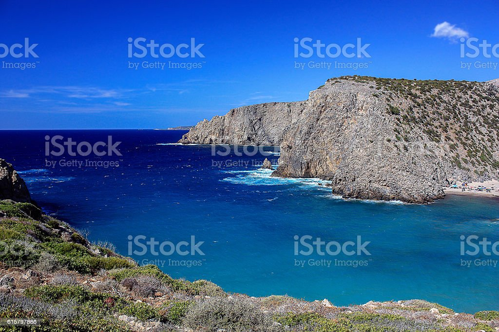 Wonderful seascape in Sardinia, Italy. stock photo