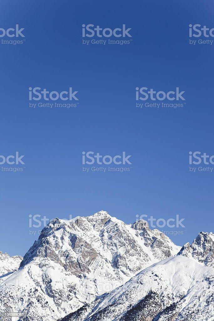 wonderful snow mountain summit copy space royalty-free stock photo