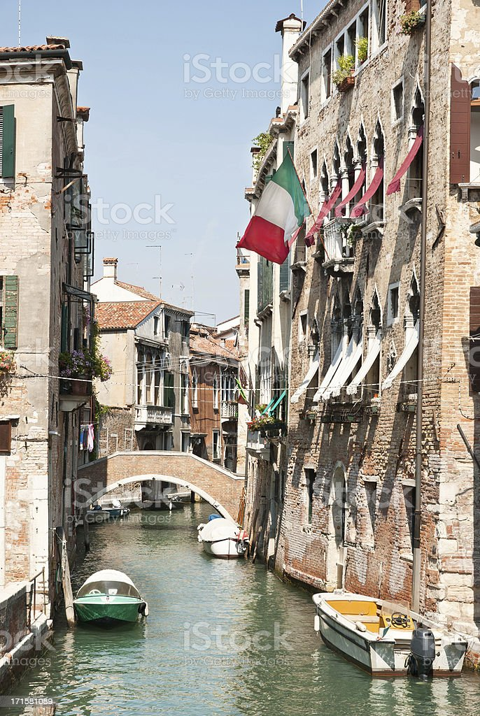 Wonderful Stock Photo Of A Venetian Alley royalty-free stock photo
