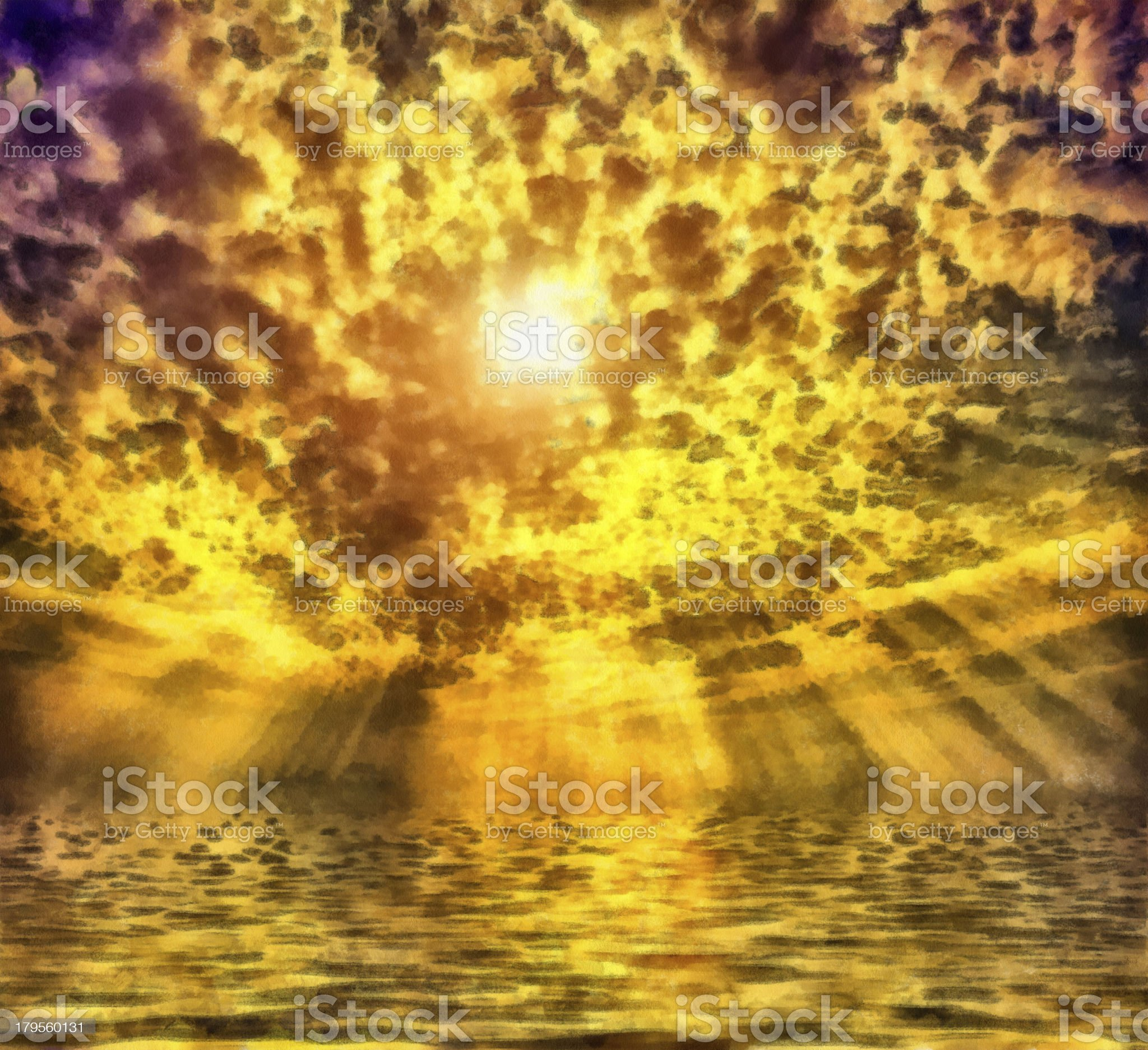 Wonderful sunrise royalty-free stock photo