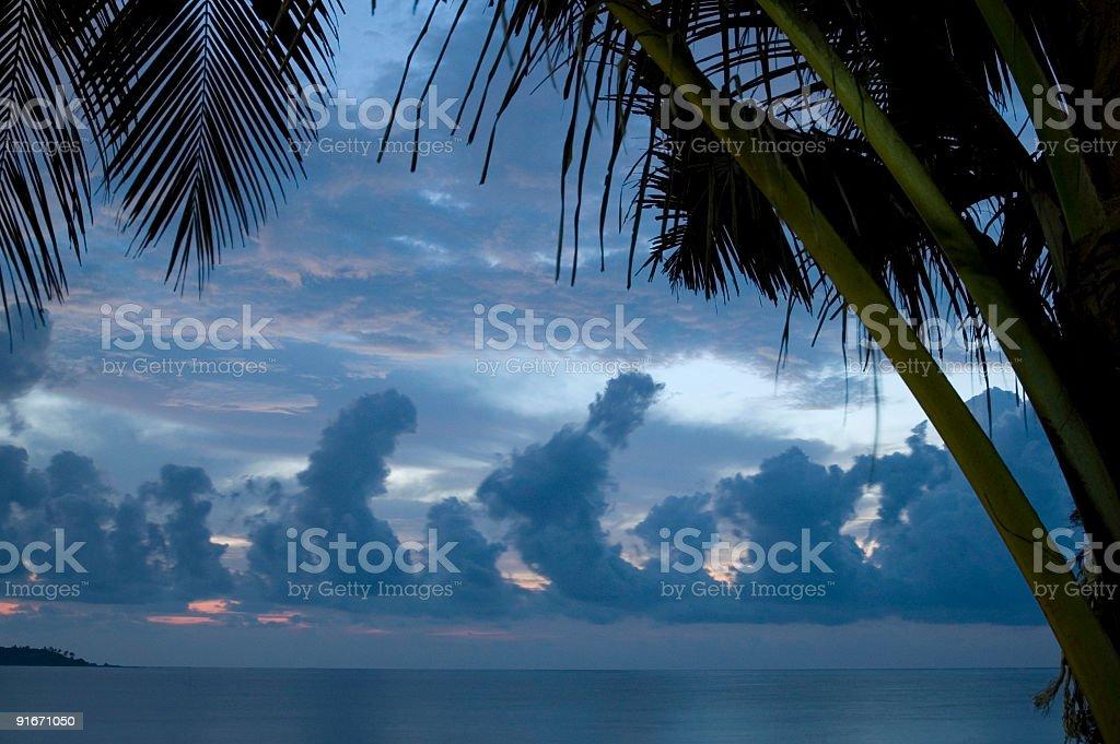 Wonderful sunrise Thailand royalty-free stock photo