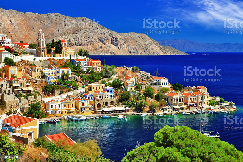 Wonderful Symi, Dodecanese,Greece stock photo