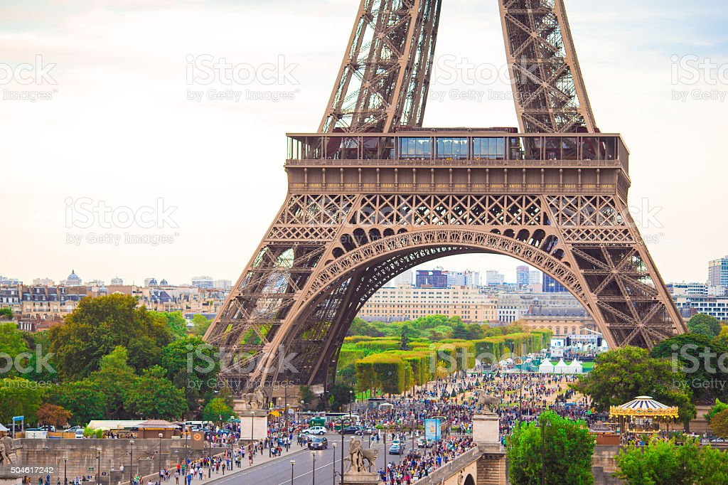 Wonderful view of Eiffel Tower in Paris stock photo