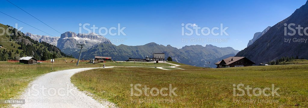 Wonderful view of the Dolomites stock photo