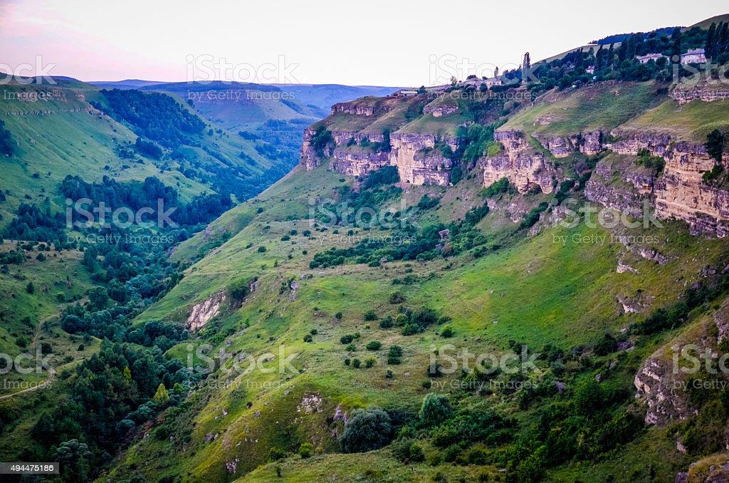 wonderful views of the valley Berezovskoe stock photo