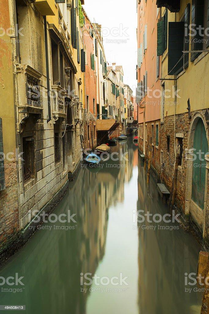 Wonderful water channel in Venice stock photo