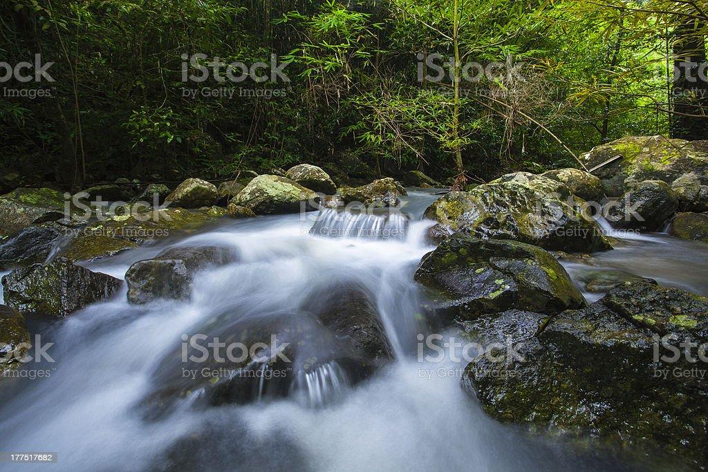 wonderful waterfall royalty-free stock photo