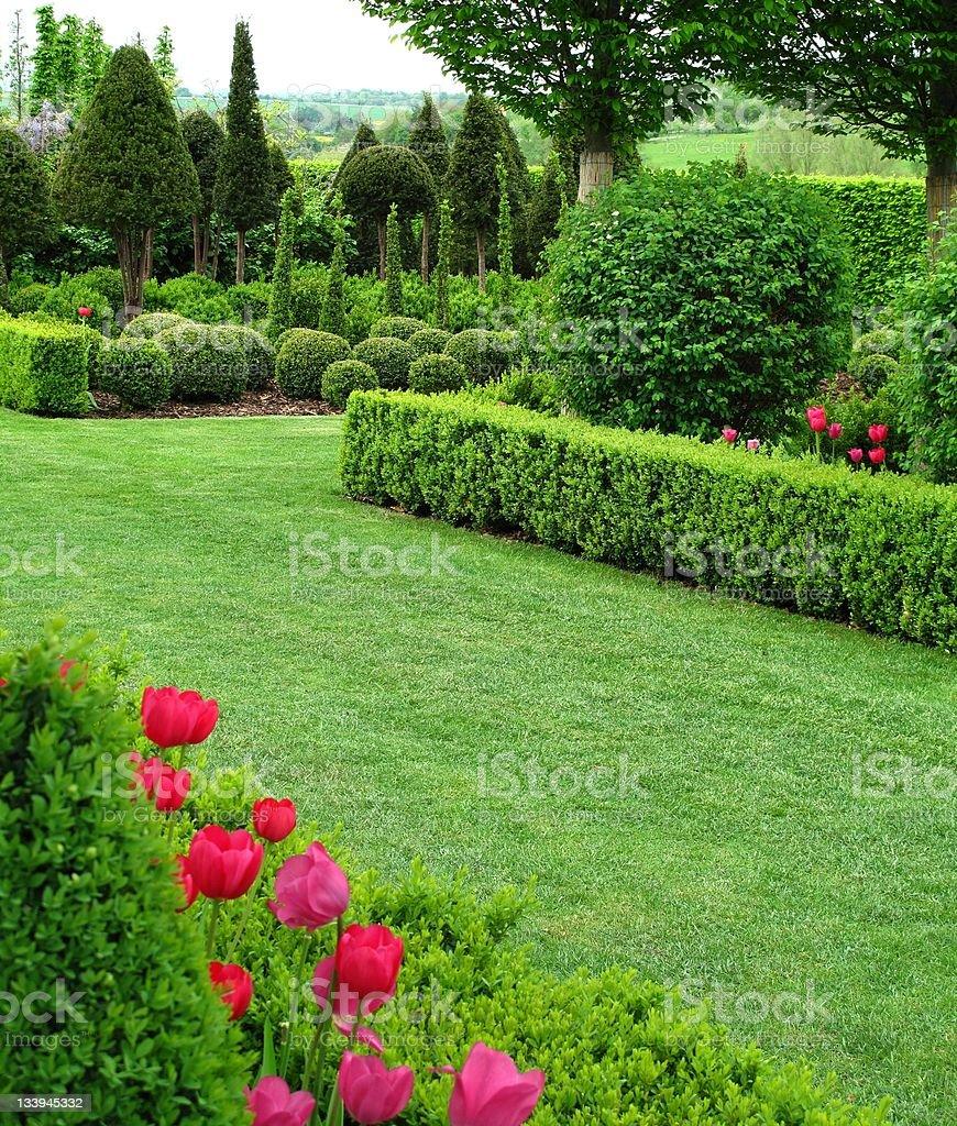 Wonderful well maintained garden stock photo