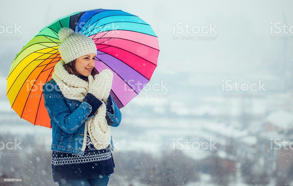 Wonderful winter day stock photo