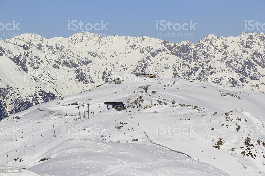 Wonderful winter landscape stock photo