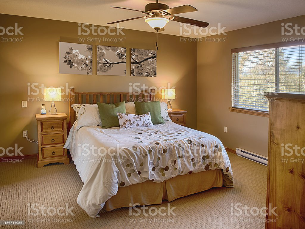 Wonderfully Awesome Bedroom stock photo