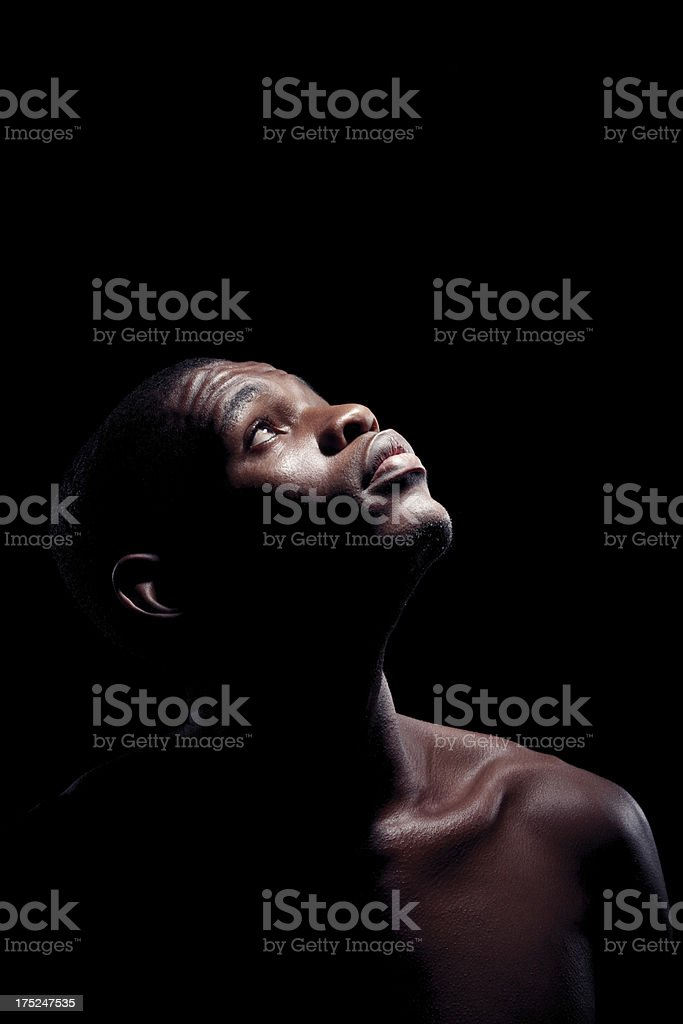 Wondering about his future royalty-free stock photo