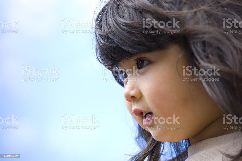 Wondering child royalty-free stock photo