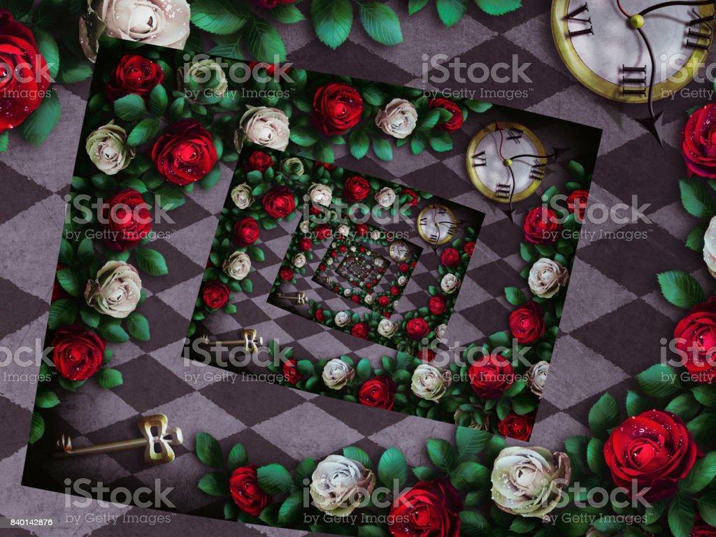 Wonderland background stock photo