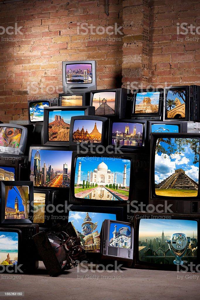 Wonders of the world stock photo